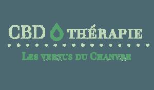 Logo CBD Therapie with les vertus dus chanvre