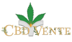 Logo of CBD vente with growing leaves